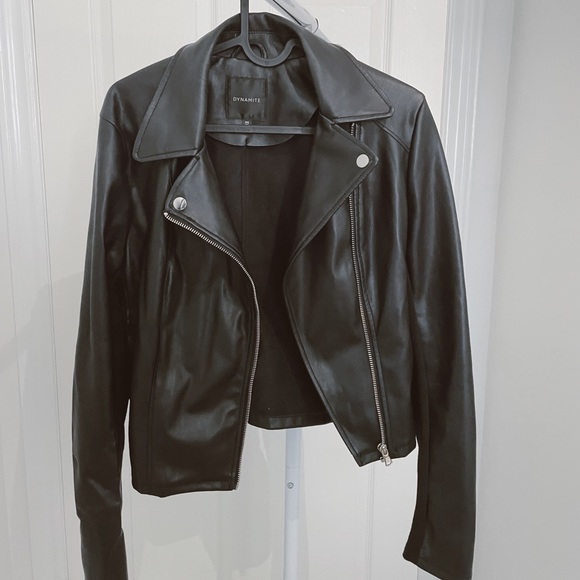 Dynamite Faux Leather Jacket. Size Small.